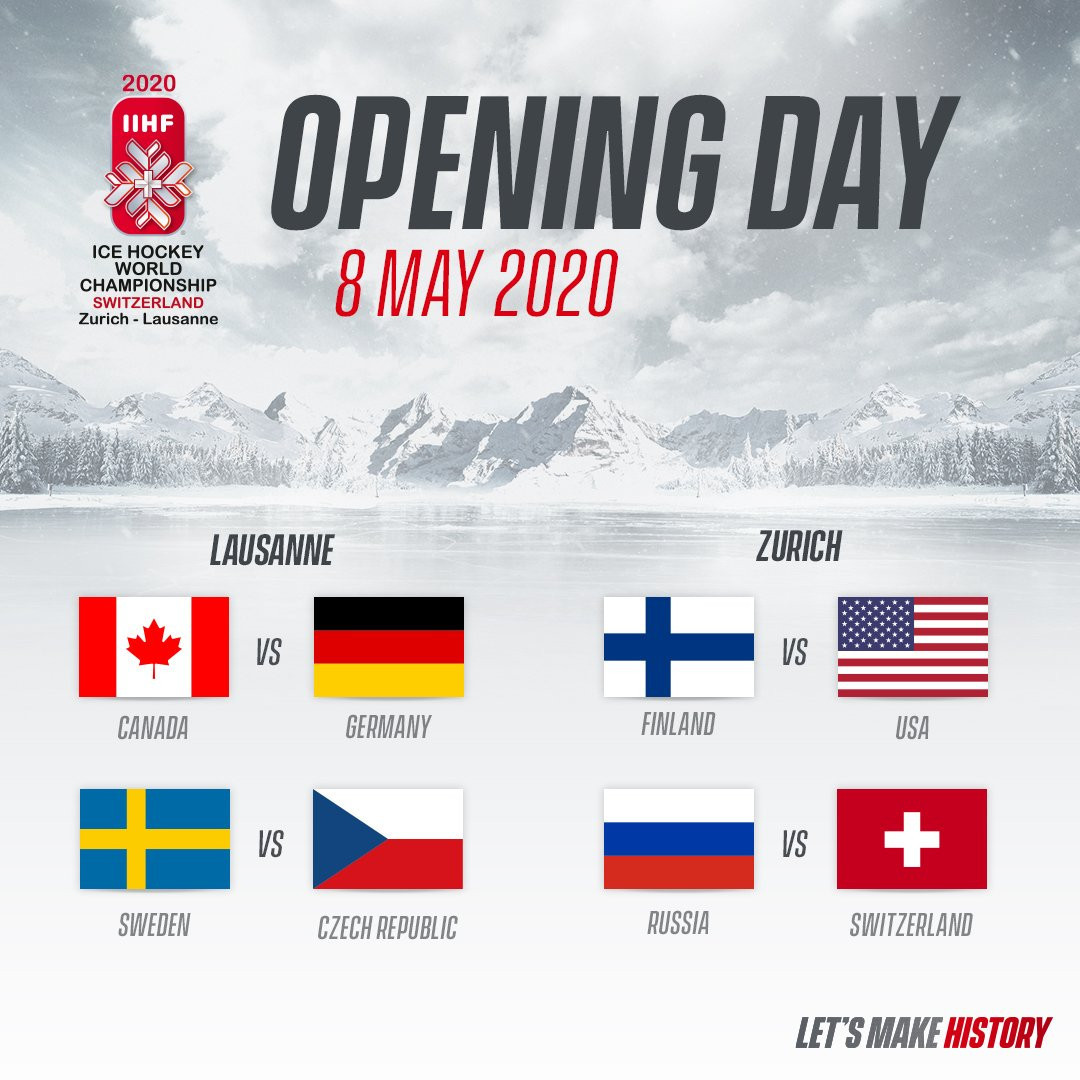 The 2020 IIHF World Championship is due to begin on May 8 with four matches ©IIHF