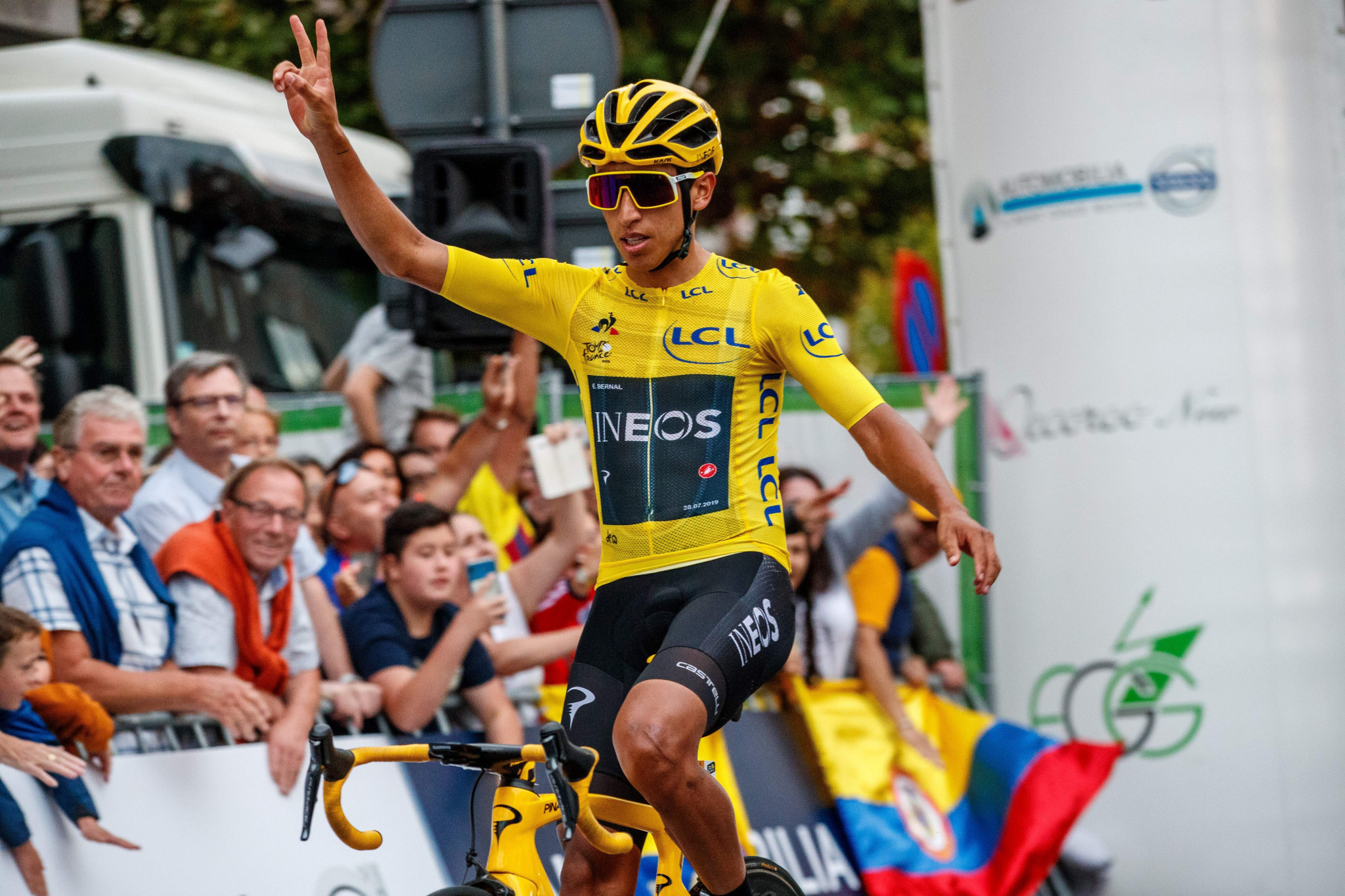 Tour de France champion Egan Bernal will be among the field when the 2019 UCI World Tour continues tomorrow with the Clásica de San Sebastián in Spain ©Getty Images