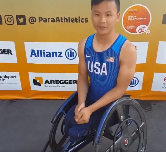 Jackson Atwood has won his second gold medal in as many days at the World Para Athletics Junior Championships ©Twitter/Para Athletics
