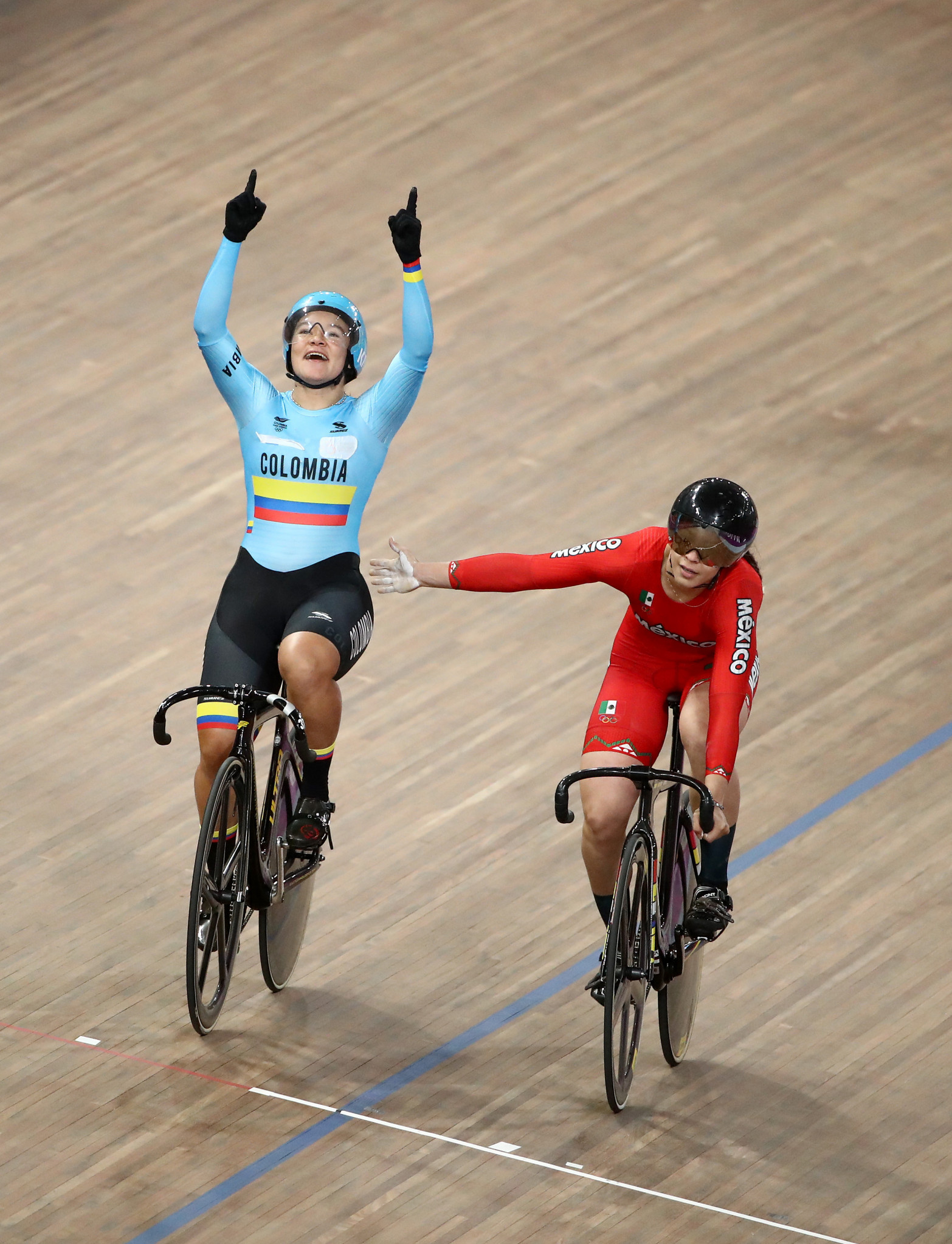 Colombia's Martha Bayona Pineda was the victor in the women's keirin ©Lima 2019