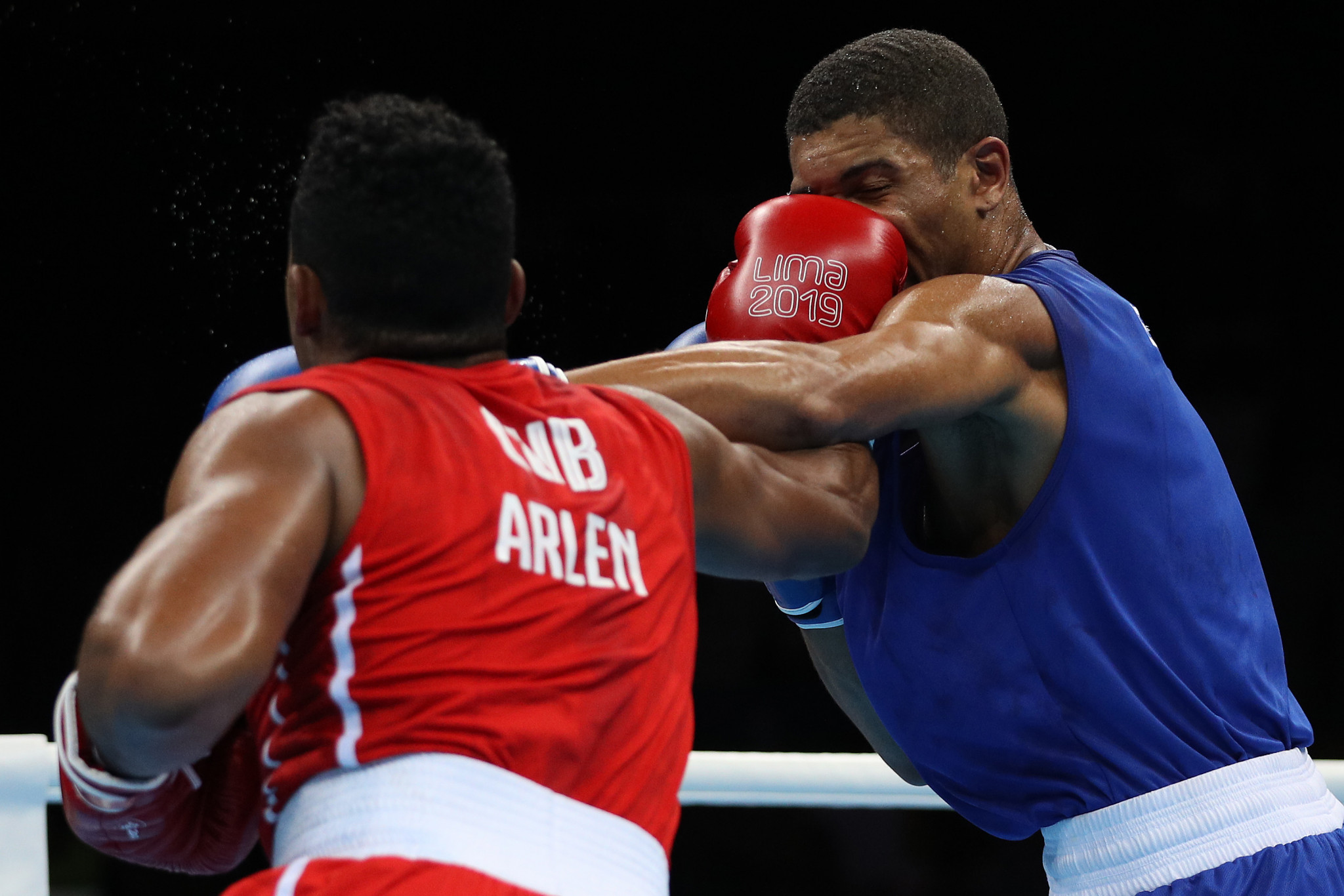 Cuba's Olympic champion Arlen Lopez defended his Pan American Games title ©Getty Images