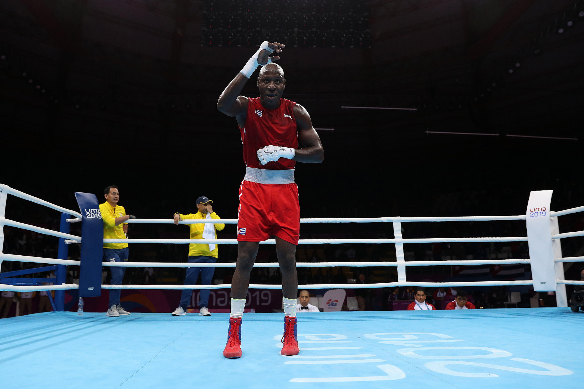 Cuba's Erislandy Savón won the men's heavyweight final ©Getty Images