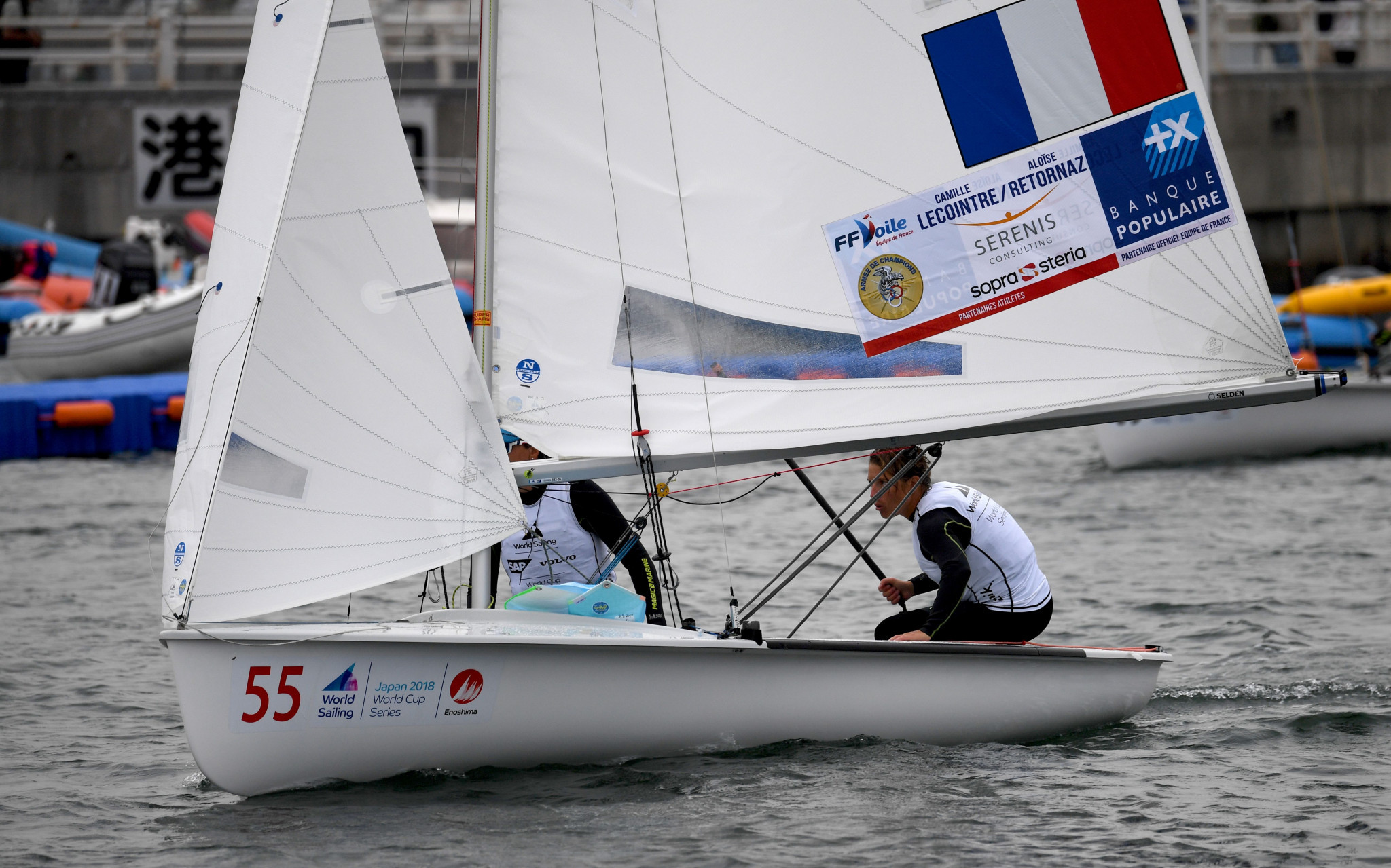 France's Camille Lecointre and Aloise Retornaz will be among the favourites in the women's event ©Getty Images