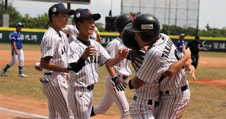 Japan edged out South Korea 8-7 to reach the final of the WBSC Under-12 Baseball World Cup ©WBSC