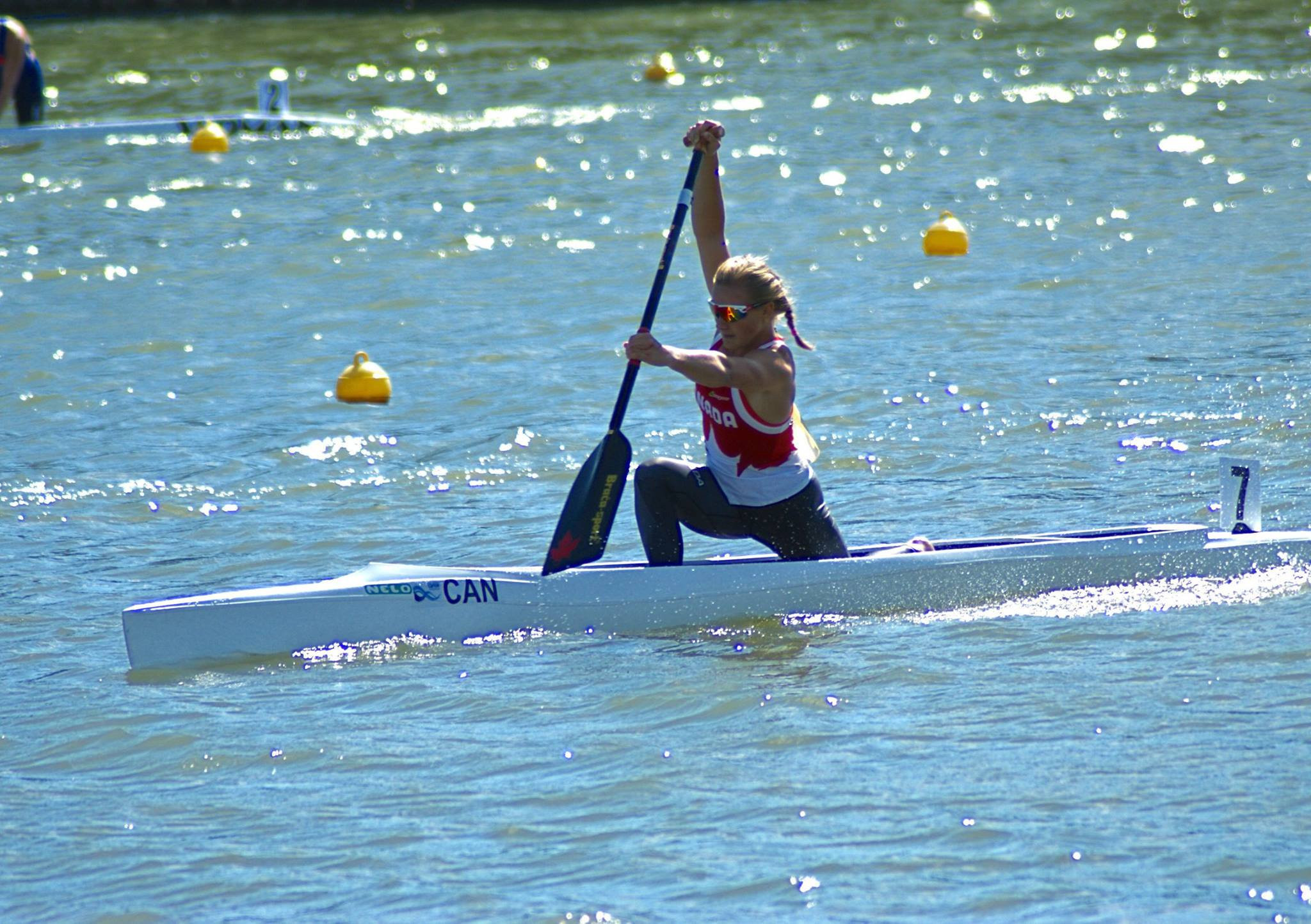 Sophia Jensen has won her second gold medal of the 2019 International Canoe Federation Junior and Under-23 Sprint World Championships ©Twitter/Canoe Kayak Canada
