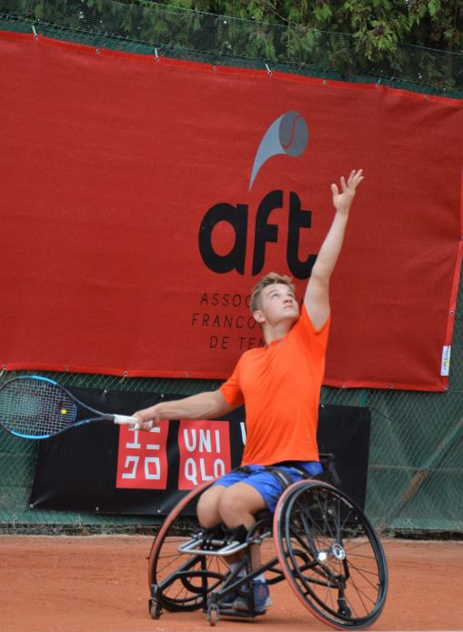 Jef Vandorpe will have a home crowd on his side as he takes on Stefan Olsson in tomorrow's International Tennis Federation Belgian Wheelchair Tennis Open final in Jambes ©Twitter/Jef Vandorpe