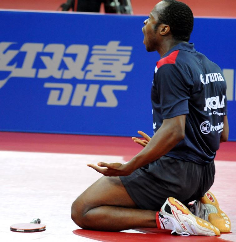 Home favourite Aruna enjoys winning start to ITTF Africa Cup