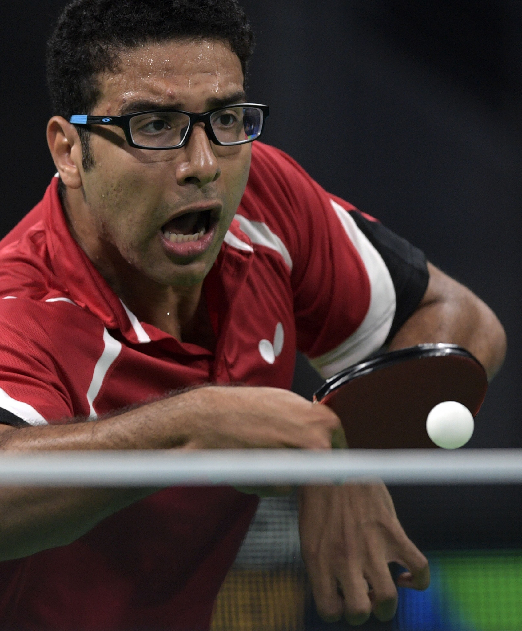 Egypt's Omar Assar began his ITTF Africa Cup defence with two victories in Lagos ©Getty Images