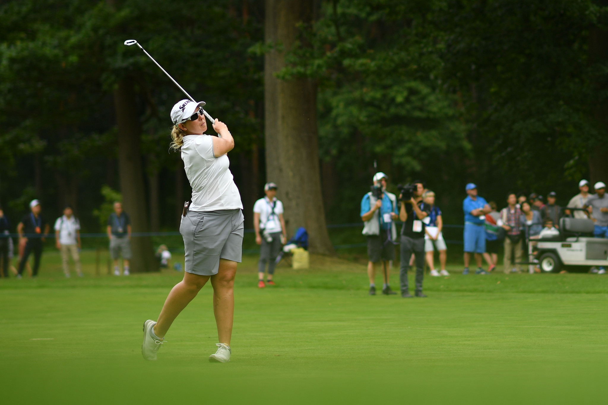 Ashleigh Buhai of South Africa lost her lead after a level-par round of 72 ©Getty Images