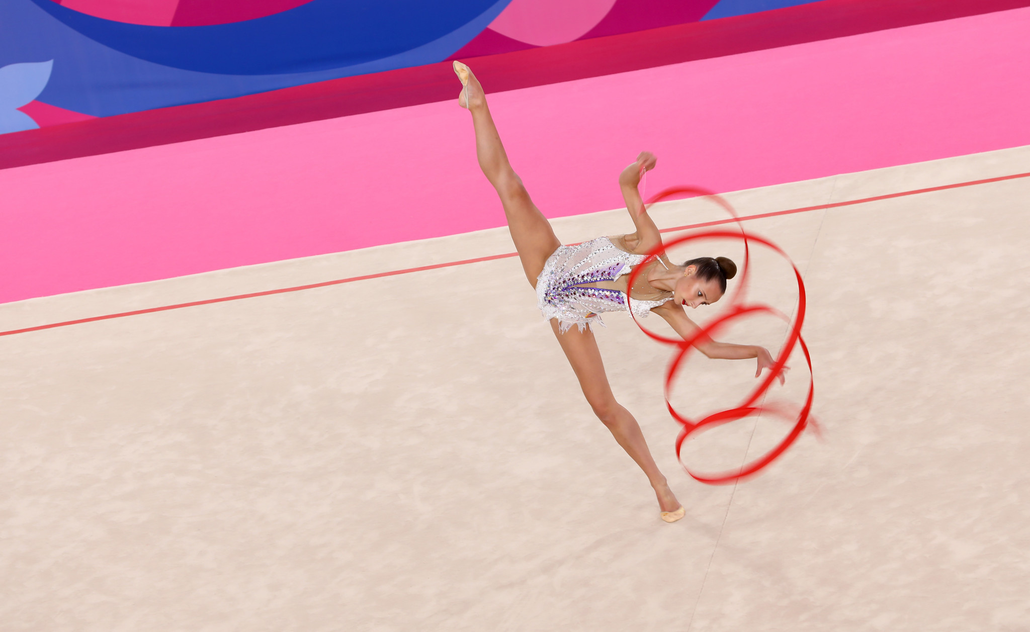 Rhythmic gymnasts add colour to Lima 2019