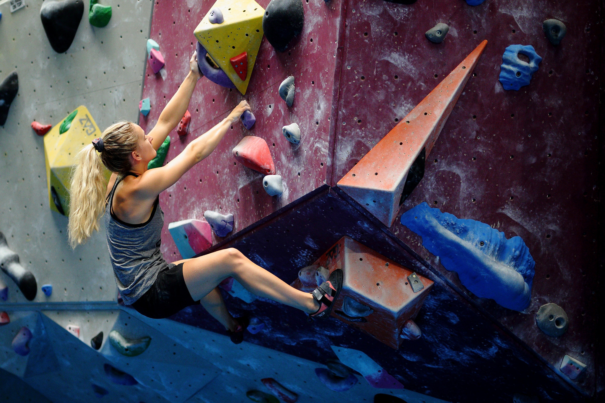 Shauna Coxsey is among the GB Climbing stars hoping to qualify for the 2020 Olympic Games in Tokyo ©Getty Images