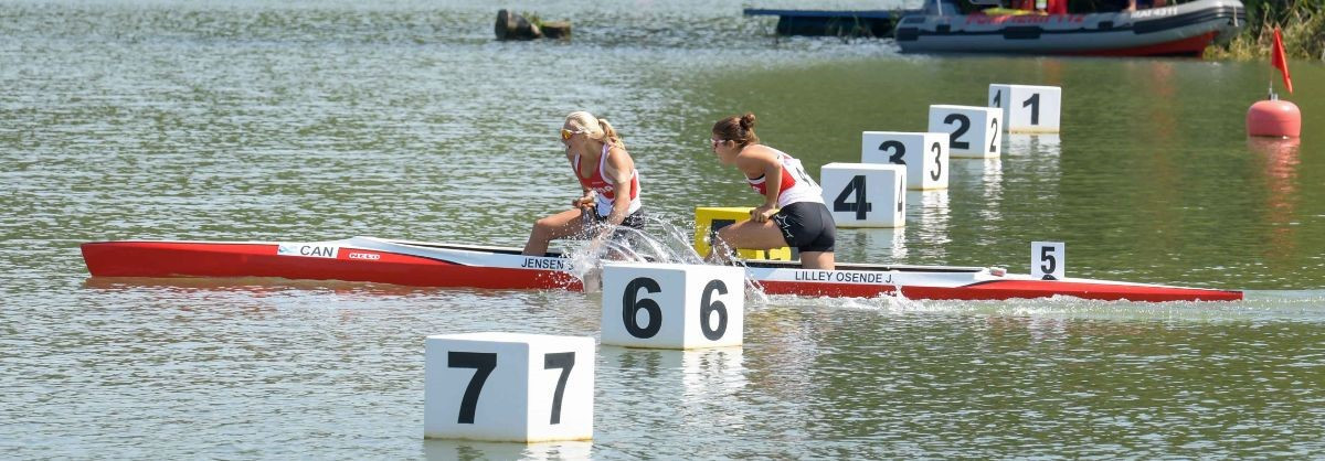 Canada's Sophia Jensen won her third gold medal of the ICF Junior and Under-23 Canoe Sprint World Championships in Pitesti in a repeat of her performance at last year's event in Plovdiv ©ICF