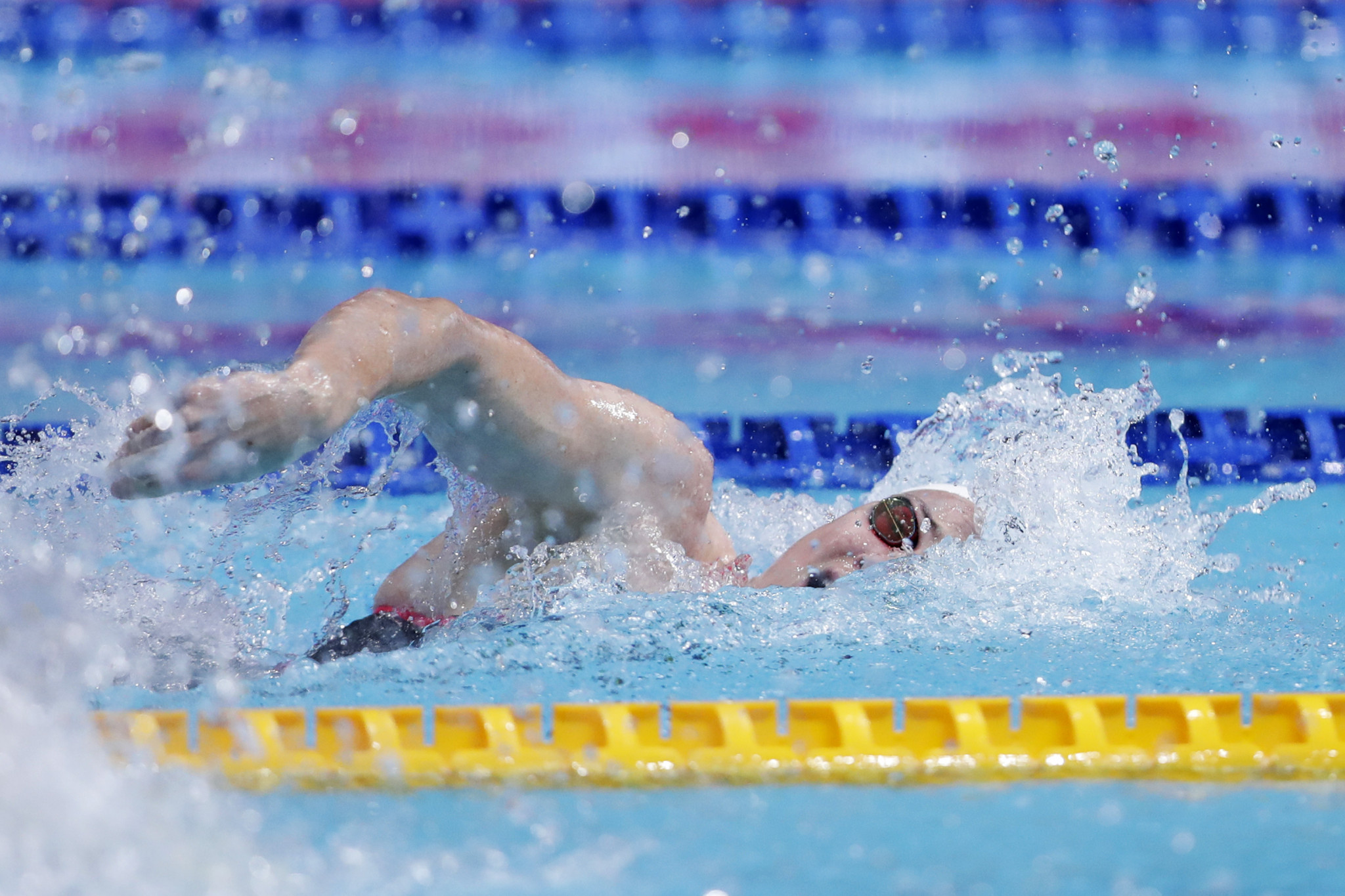 Cate Campbell of Australia set a World Cup record as she won the women's 100m freestyle title ©Getty Images