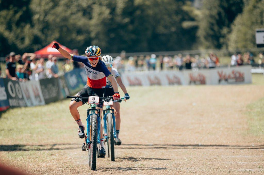 Van der Poel and Ferrand-Prevot win cross-country titles in Van di Sole
