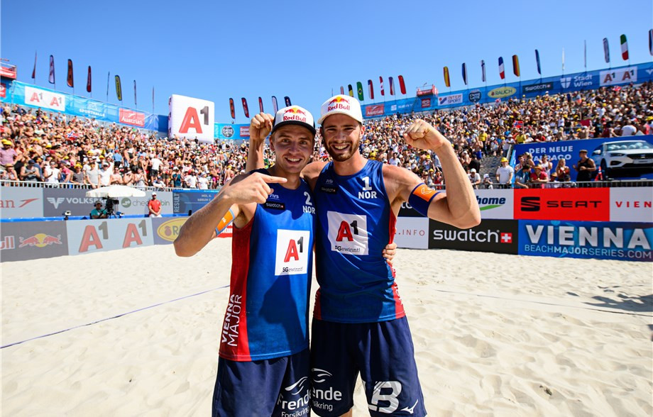 Mol and Sørum win seventh FIVB Beach World Tour title in Vienna