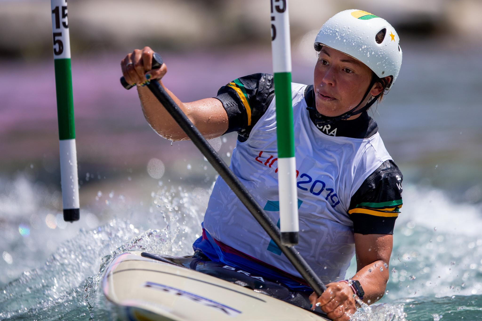 Brazilian Ana Satila acheived two canoe slalom gold medals ©Lima 2019