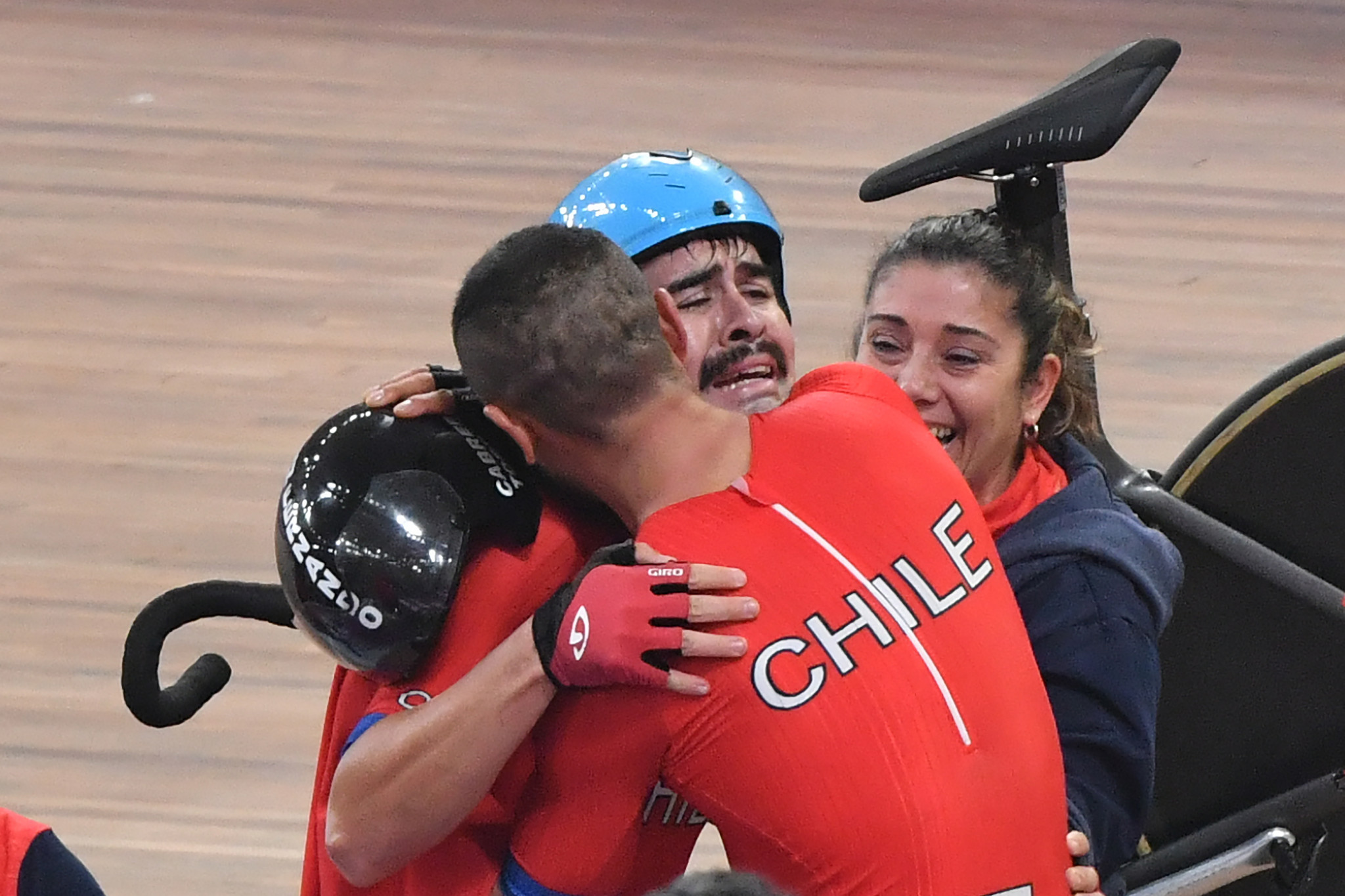 Chile's Antonio Cabrera Torres and Felipe Penaloza Yanez won the men's madison ©Getty Images