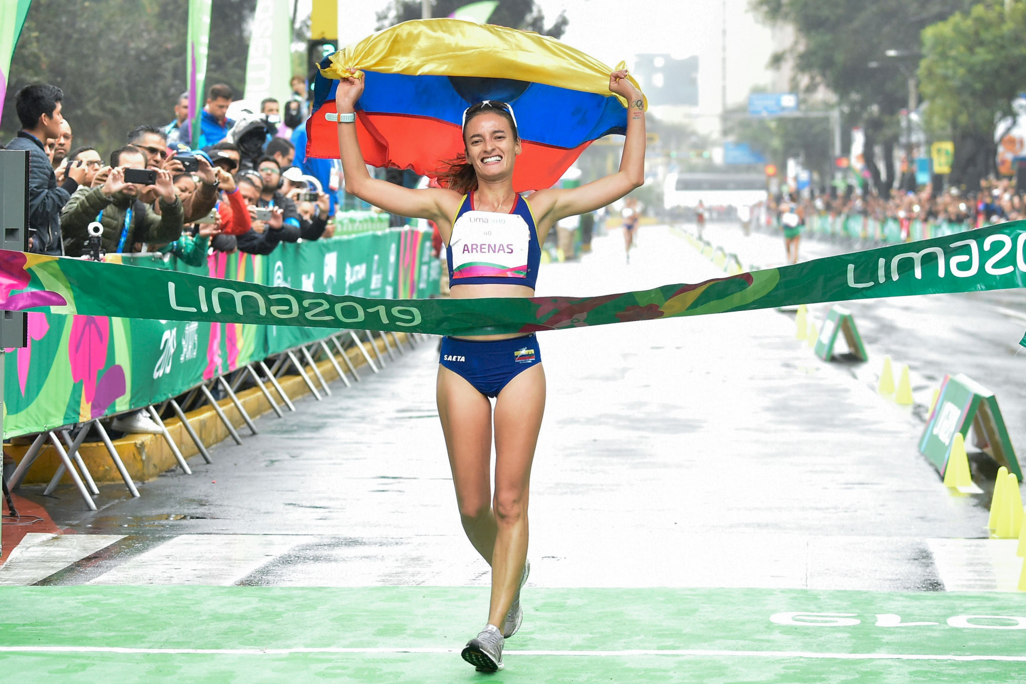 Colombia's Sandra Arenas won the women's 20km race walk ©Getty Images