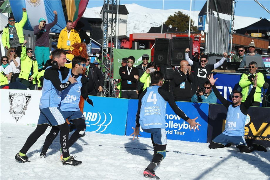 Hosts Argentina claim men's FIVB Snow Volleyball World Tour victory