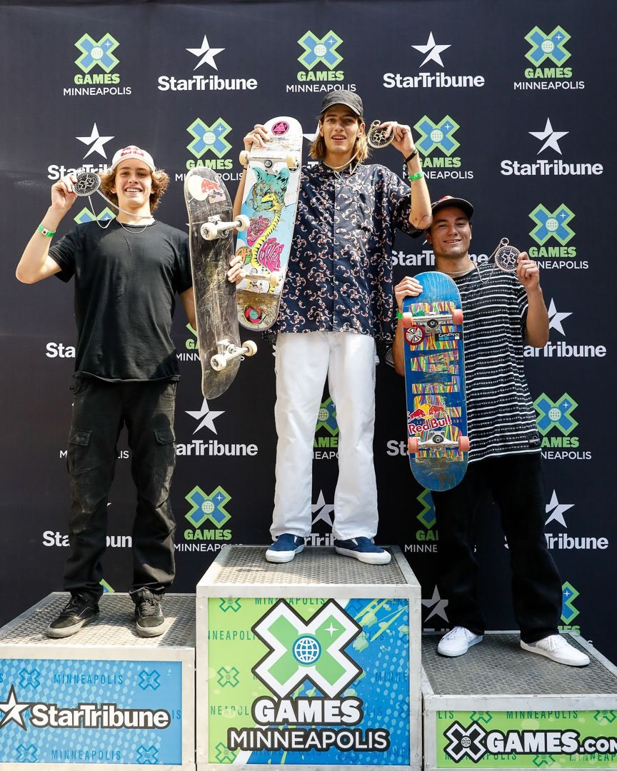 Federico claims surprise win in men's skateboard park event at Summer X Games