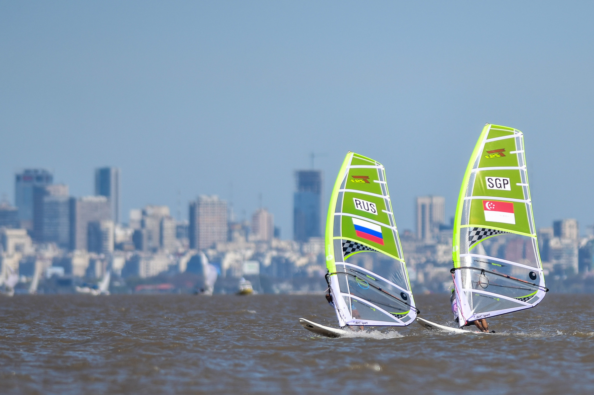 Youth Olympic Games bronze medallist Yana Reznikova leads Russian hopes for success at the RS:X Windsurfing Youth World Championships at the Yacht Club of Saint-Petersburg ©Getty Images