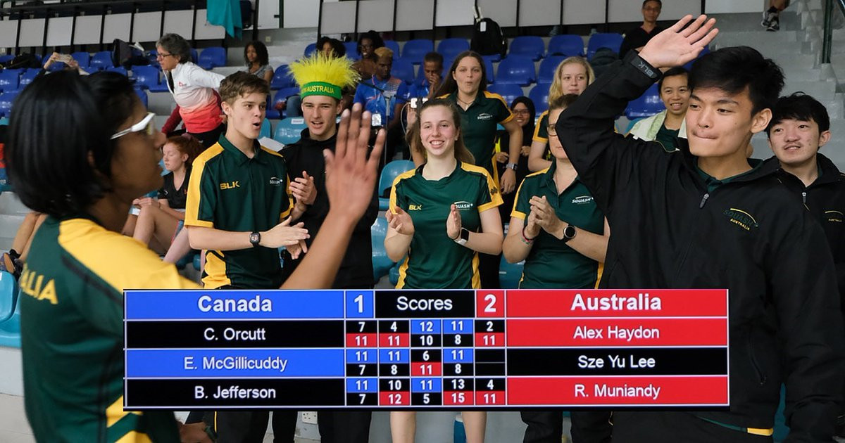 Australia upset Canada on day one of women's team event at WSF World Junior Championships
