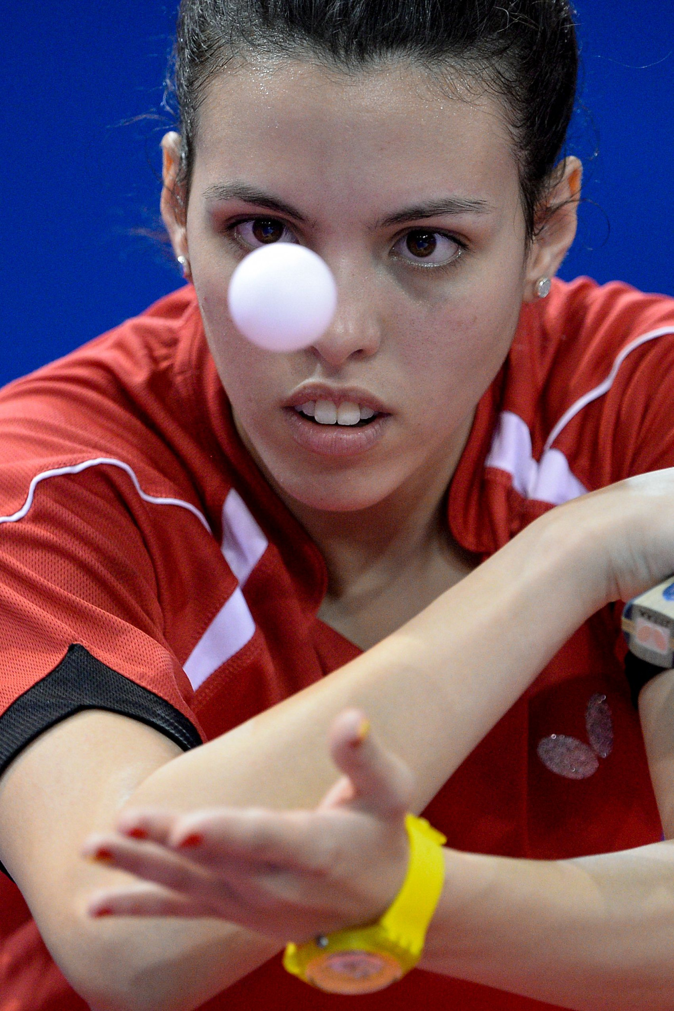 Top seed Dina Meshref of Egypt retained the women's ITTF Africa Cup title in Lagos ©Getty Images