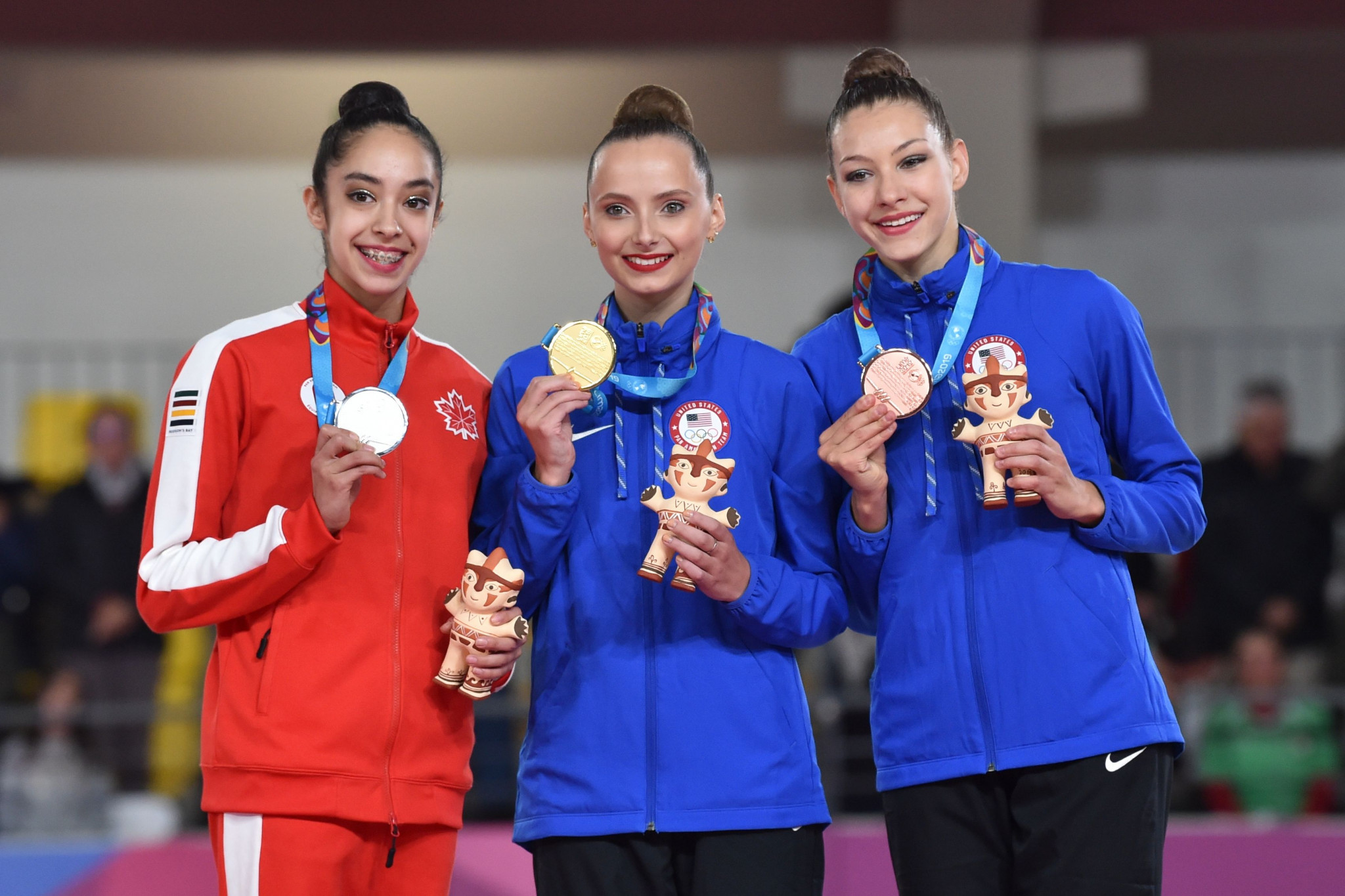 Feeley finally tops rhythmic gymnastics podium after earlier disappointment at Lima 2019