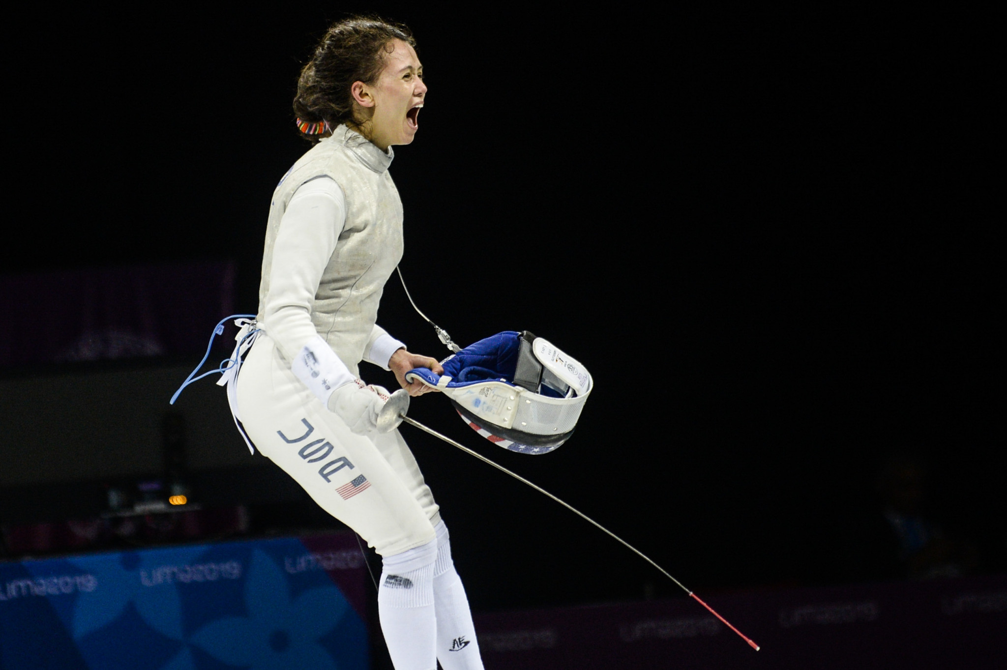 Lee Kiefer won her third consecutive Pan American Games women's foil title ©Getty Images