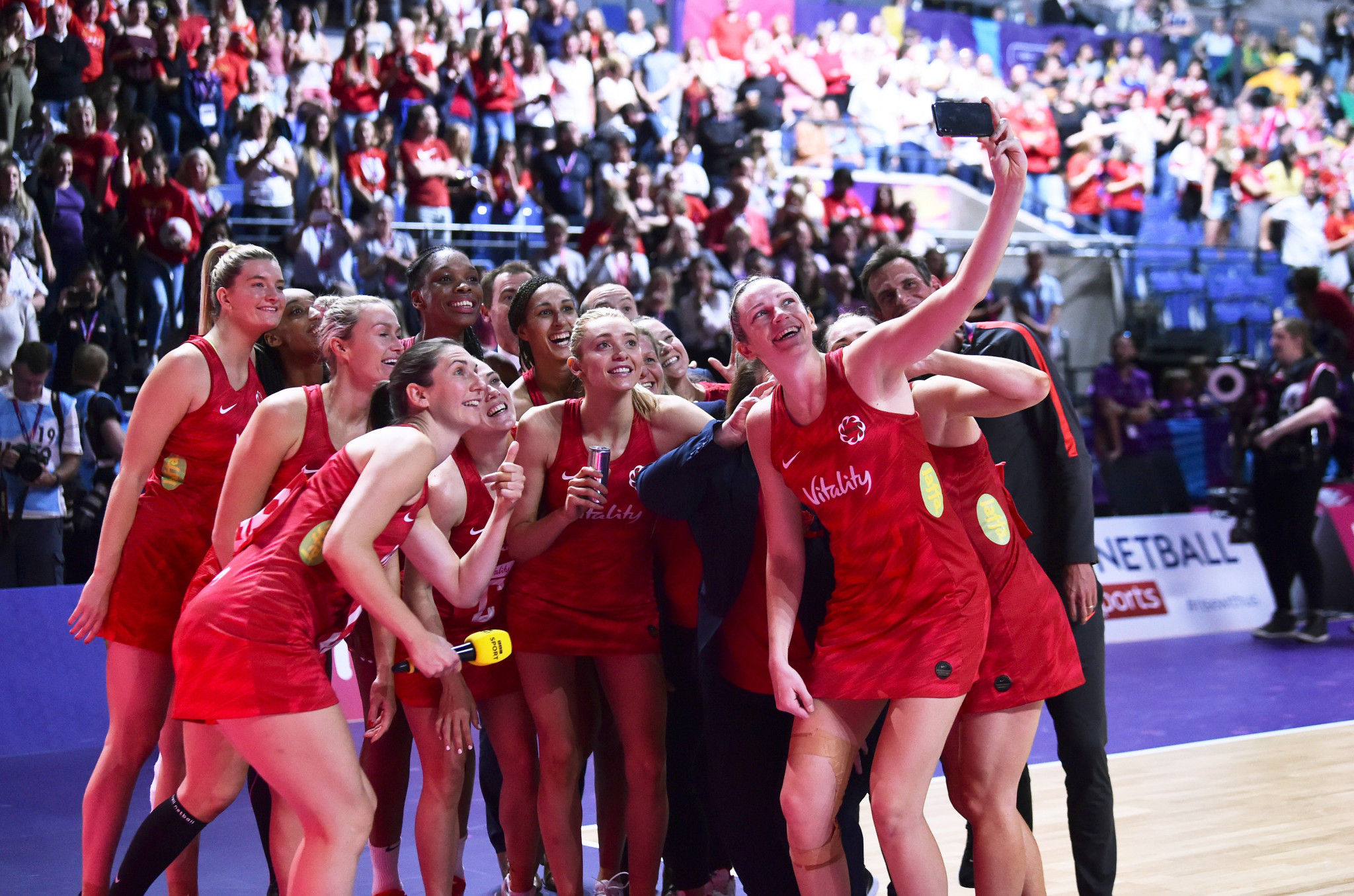 Hosts England were the bronze medallists at last month's Netball World Cup in Liverpool ©Getty Images