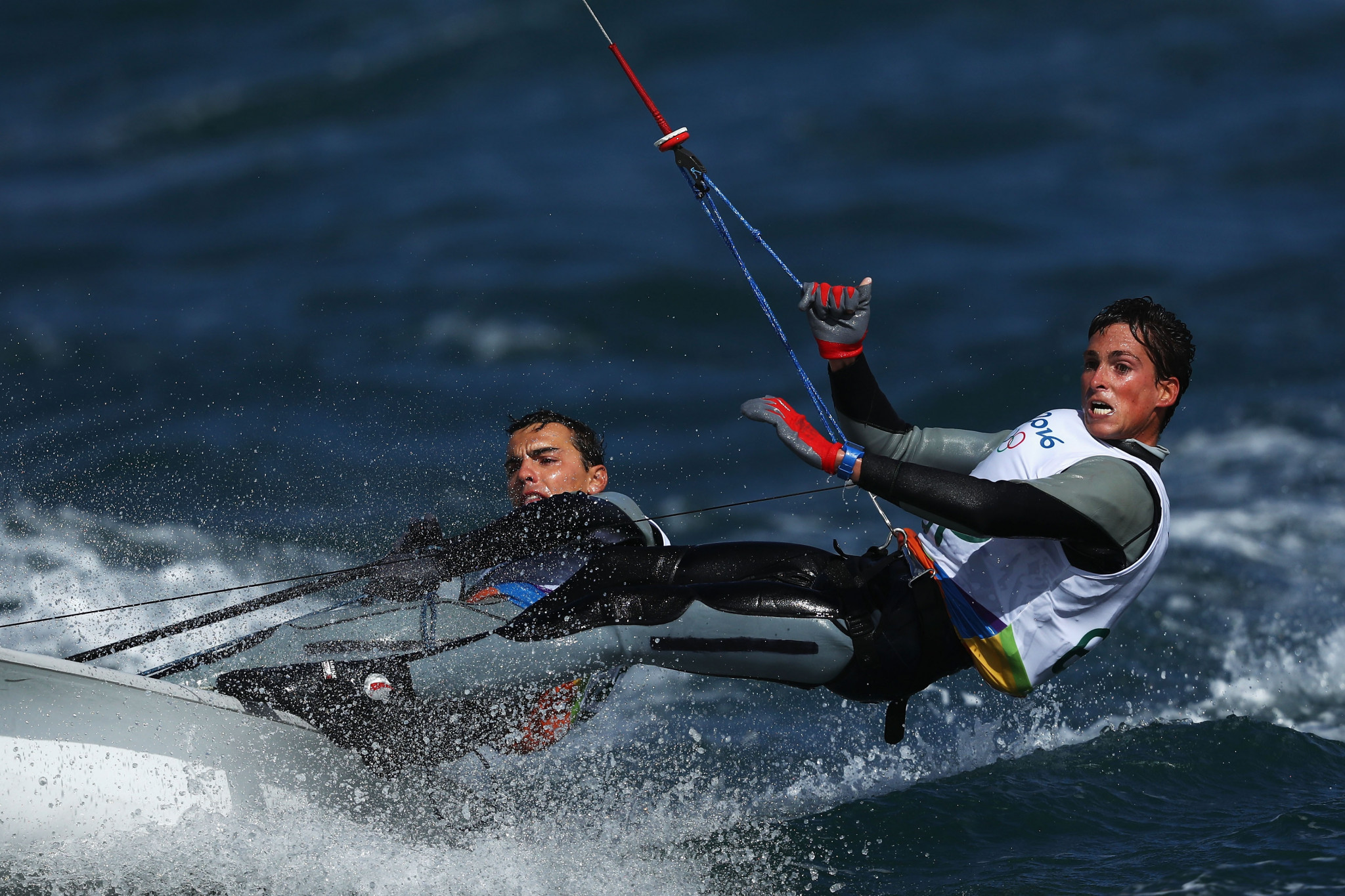 Spain's Jordi Xammar, left, and Nicolás Rodríguez have a one-point advantage at the summit of the men's standings ©Getty Images