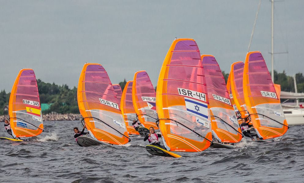 Israeli sailors are dominating the women's race after the first day of action ©RS:X World Youth Championships/Anna Semeniouk