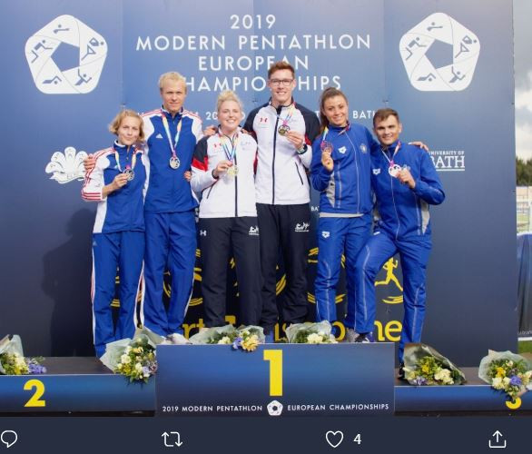 Bryson and Pillage claim mixed relay gold for Britain at European Modern Pentathlon Championships