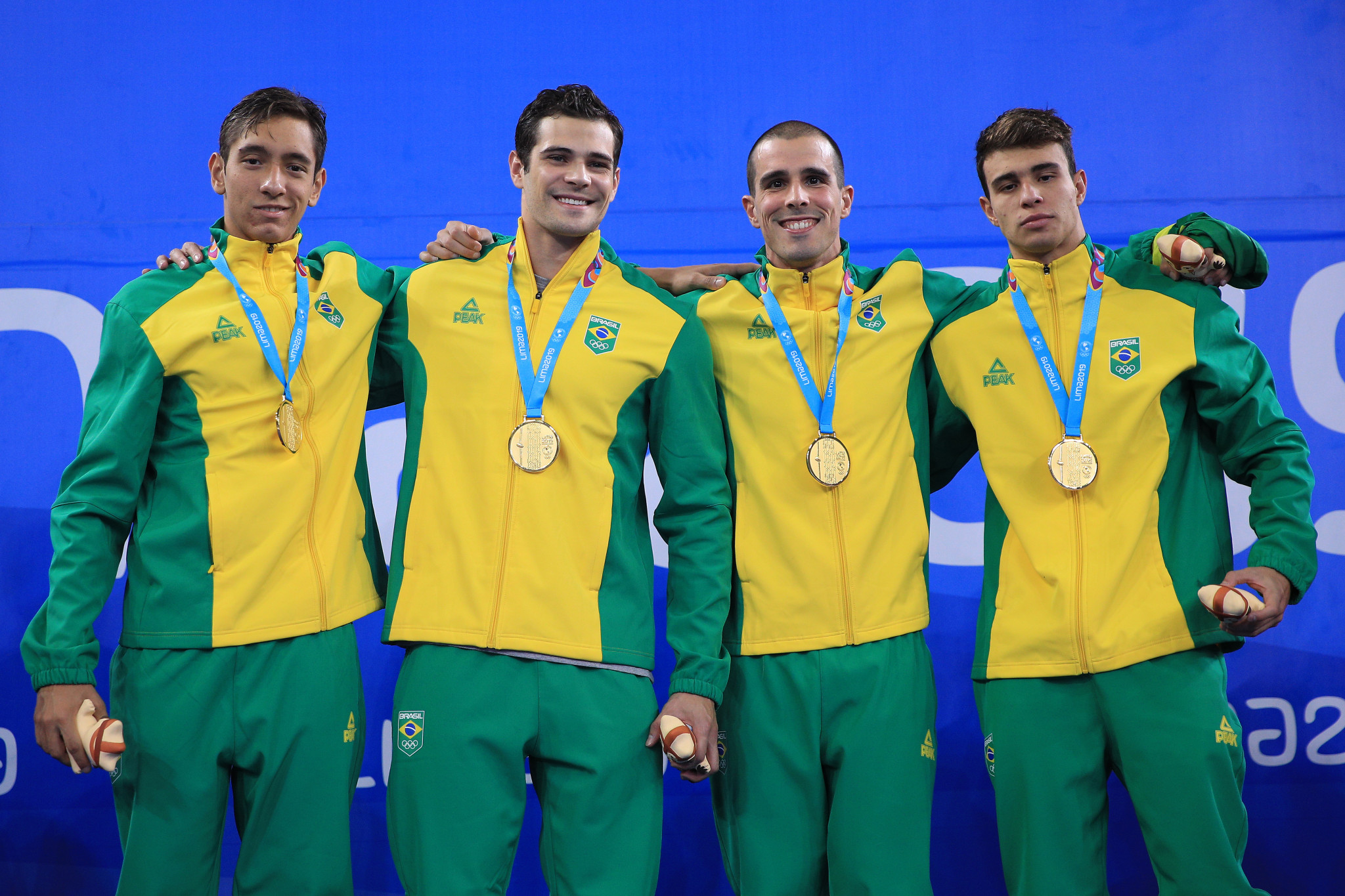 Brazil break Pan American Games swimming record to top 4x100m freestyle relay podium