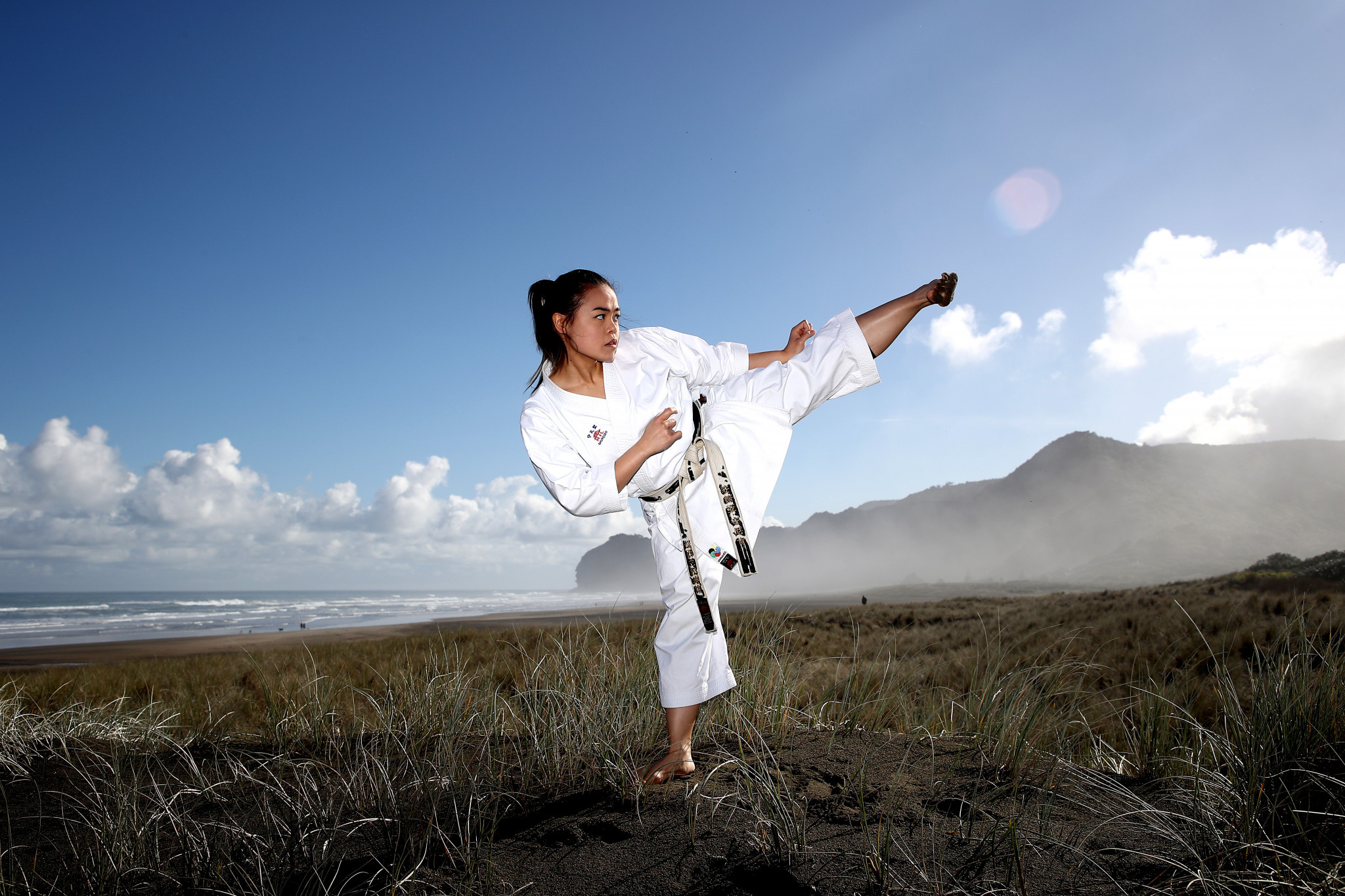 Karateka Andrea Anacan is among those hoping to compete for New Zealand at Tokyo 2020 ©Getty Images
