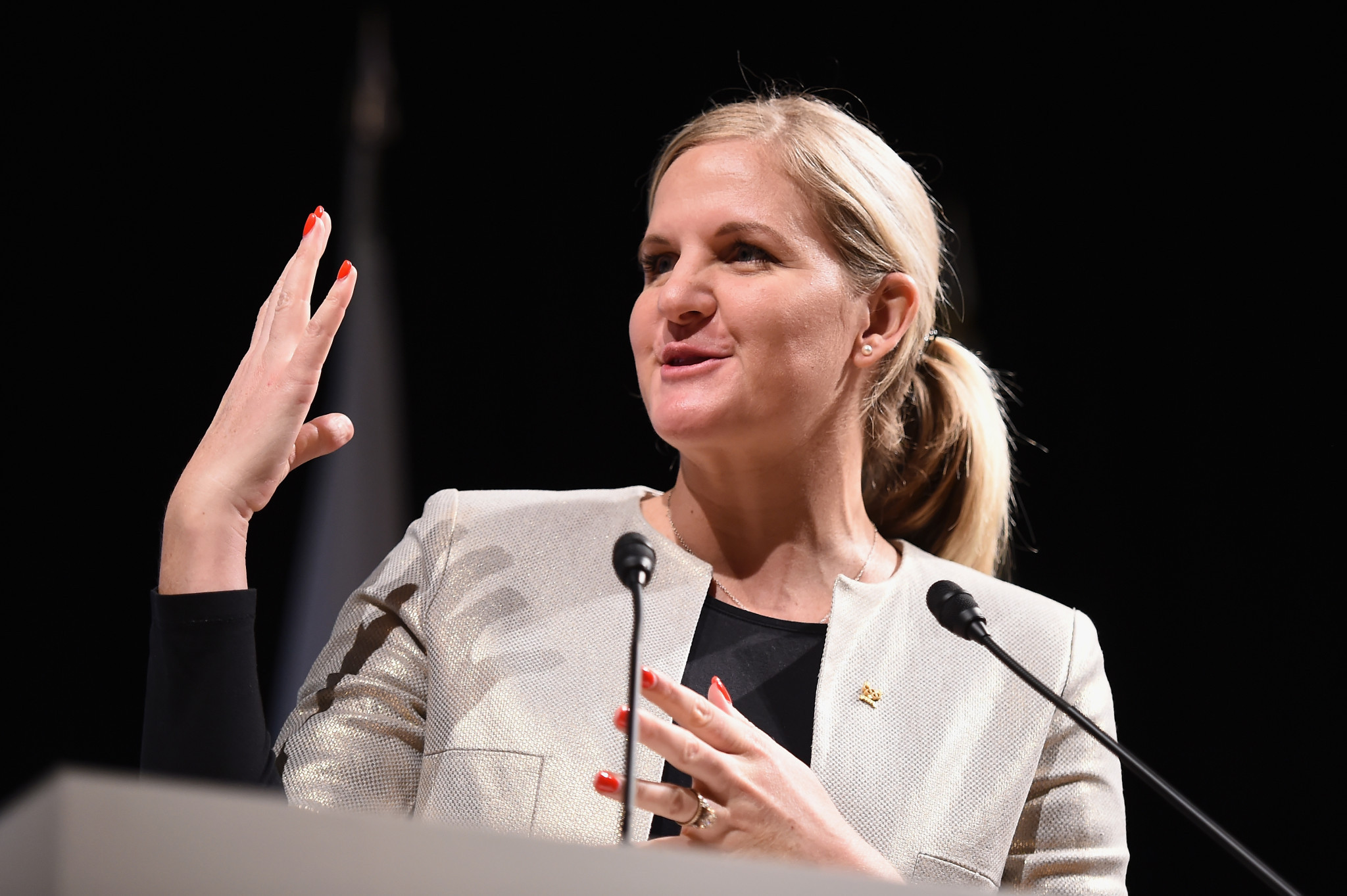 Former PE teacher Kathleen Lobb replaces International Olympic Committee member and double Olympic gold medallist Kirsty Coventry, pictured, as vice-president of the Zimbabwe Olympic Committee ©Getty Images