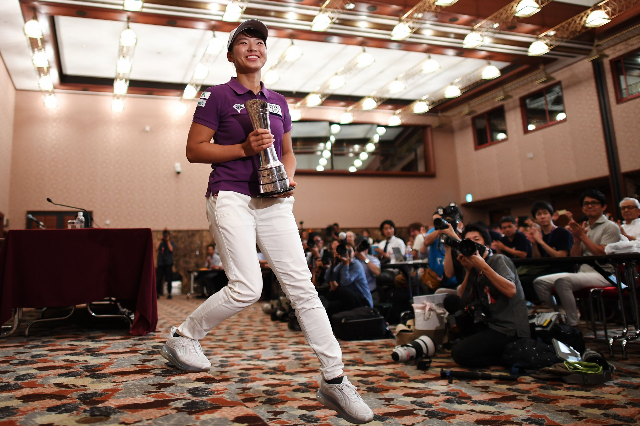 The 20-year-old Hinako Shibuno became the first Japanese golfer in 42 years to win an overseas major when she claimed victory at the British Open in Woburn on Sunday ©Getty Images