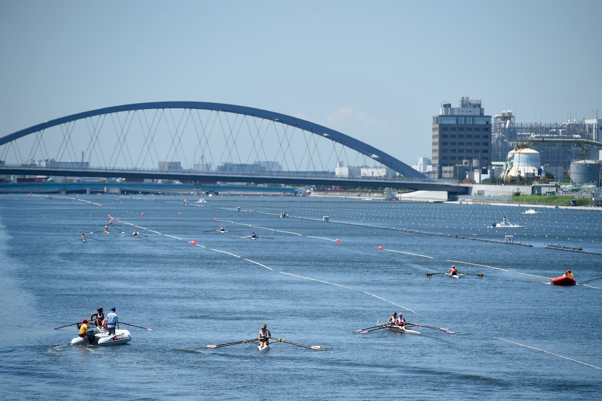The Olympic Sea Forest Waterway venue is hosting competition  ©Getty Images