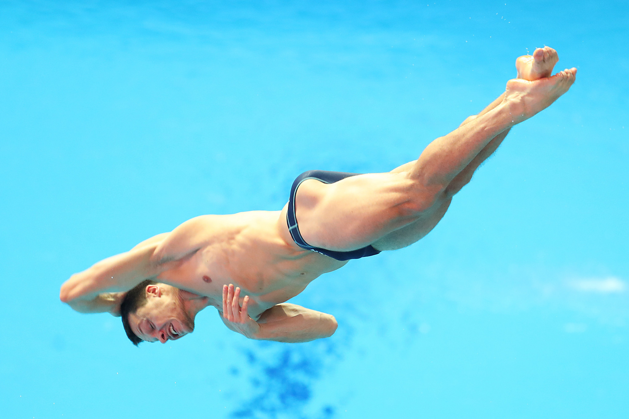 Germany's Patrick Hausding has his second gold in three days at Liko Sports Centre after adding 1m springboard victory to his win in the mixed team event ©Getty Images