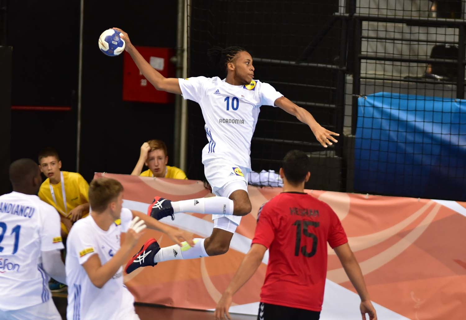 Defending champions France had enough to beat Egypt ©IHF