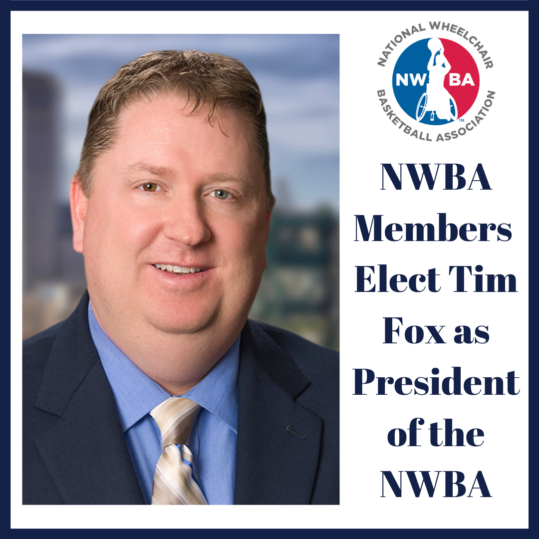 Fox appointed President of National Wheelchair Basketball Association