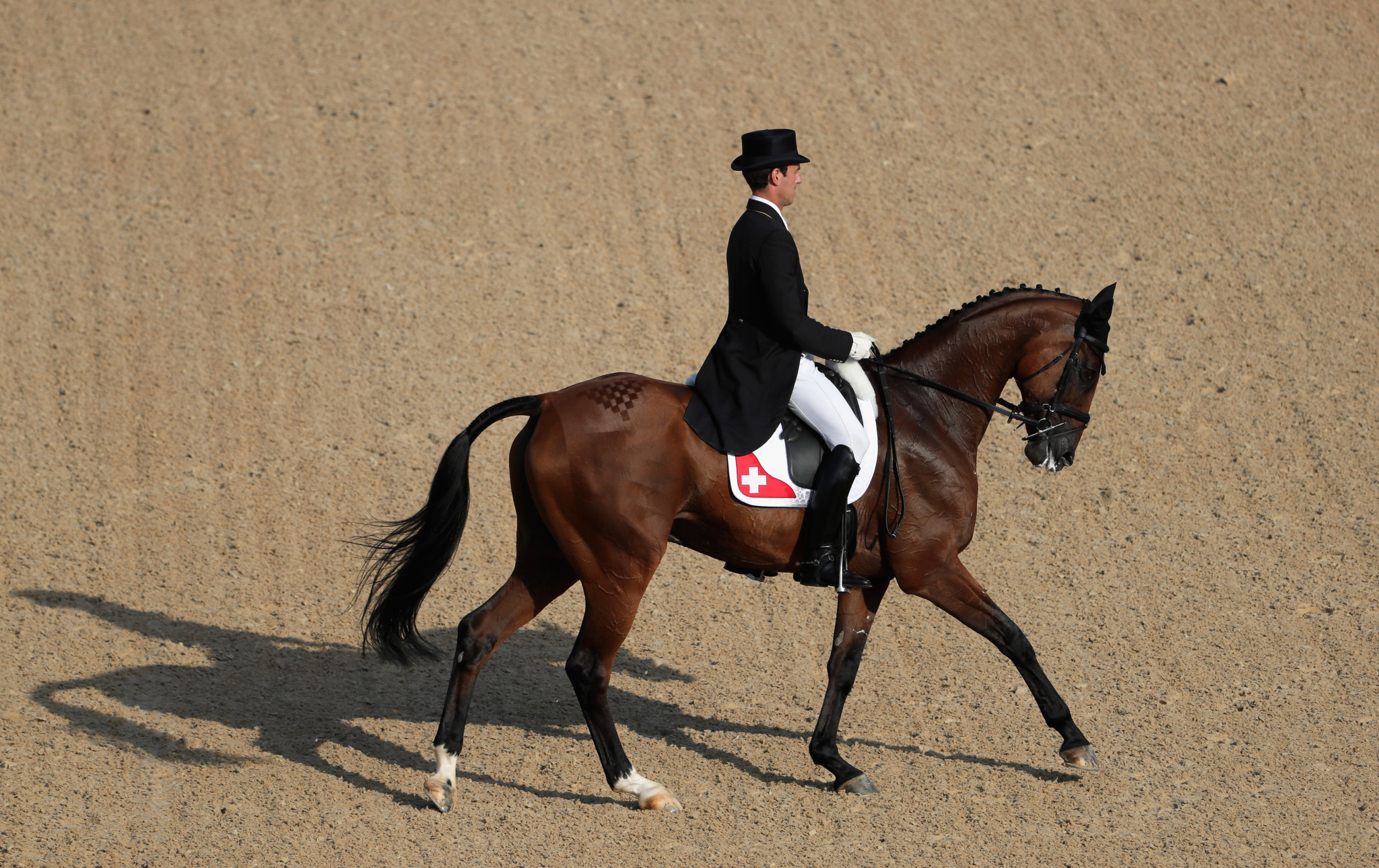 Switzerland out in front after first part of dressage at FEI Eventing Nations Cup