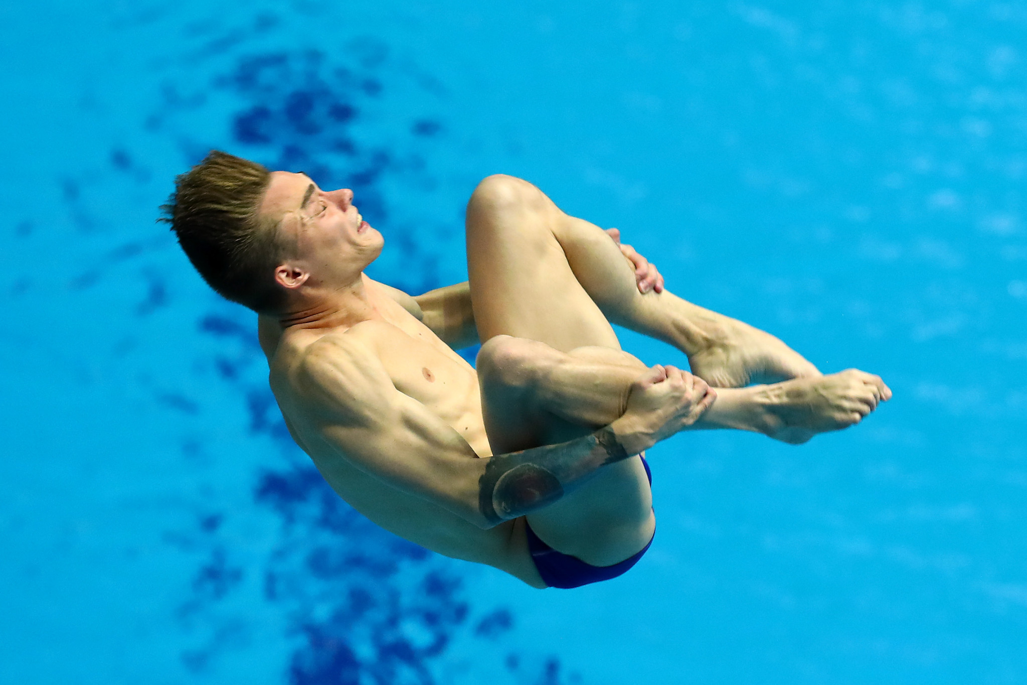 Russia's Aleksandr Belevtsev and Nikita Shleikher, pictured, took the victory in the men's synchronised platform ©Getty Images