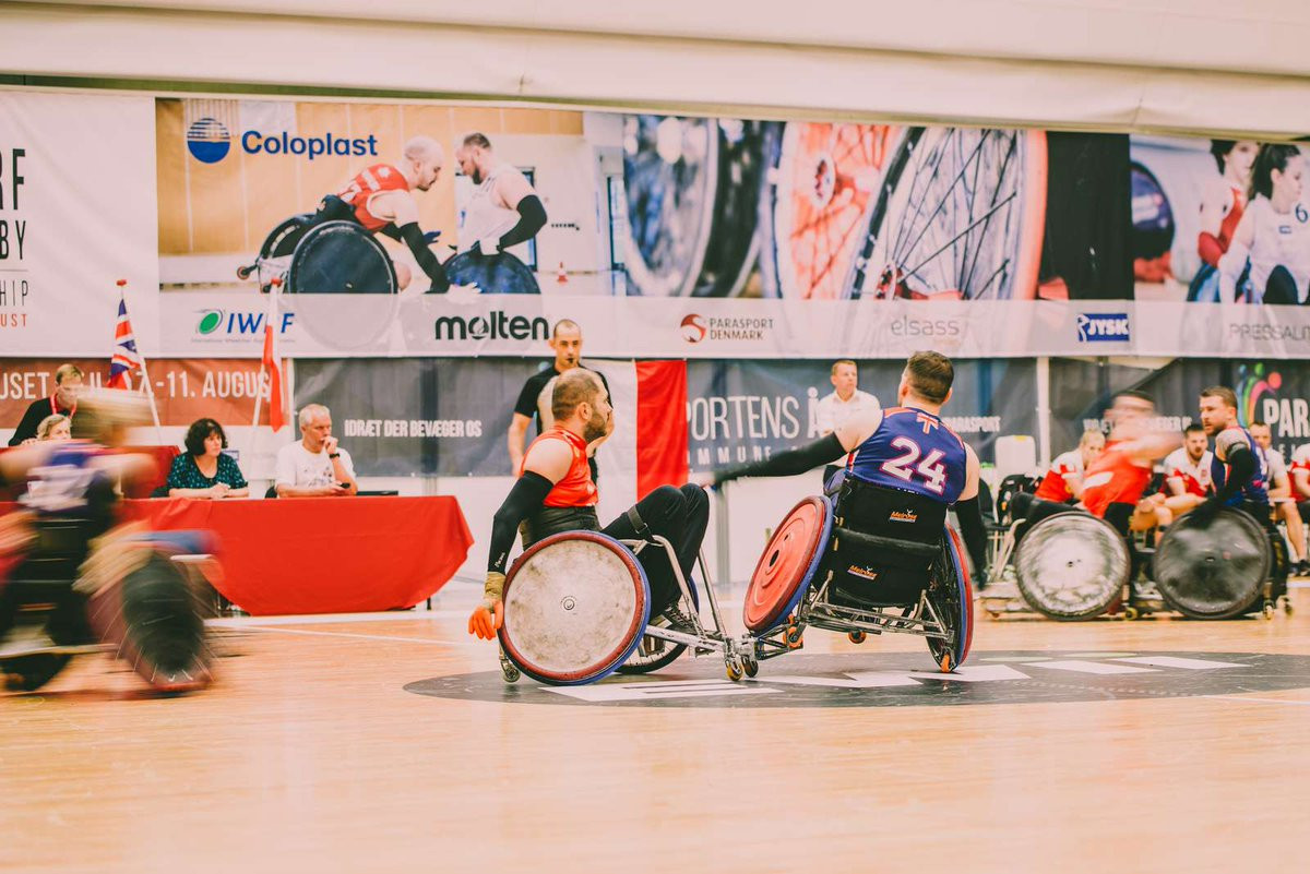 Second win for holders Britain at IWRF European Championship as semi-finalists confirmed
