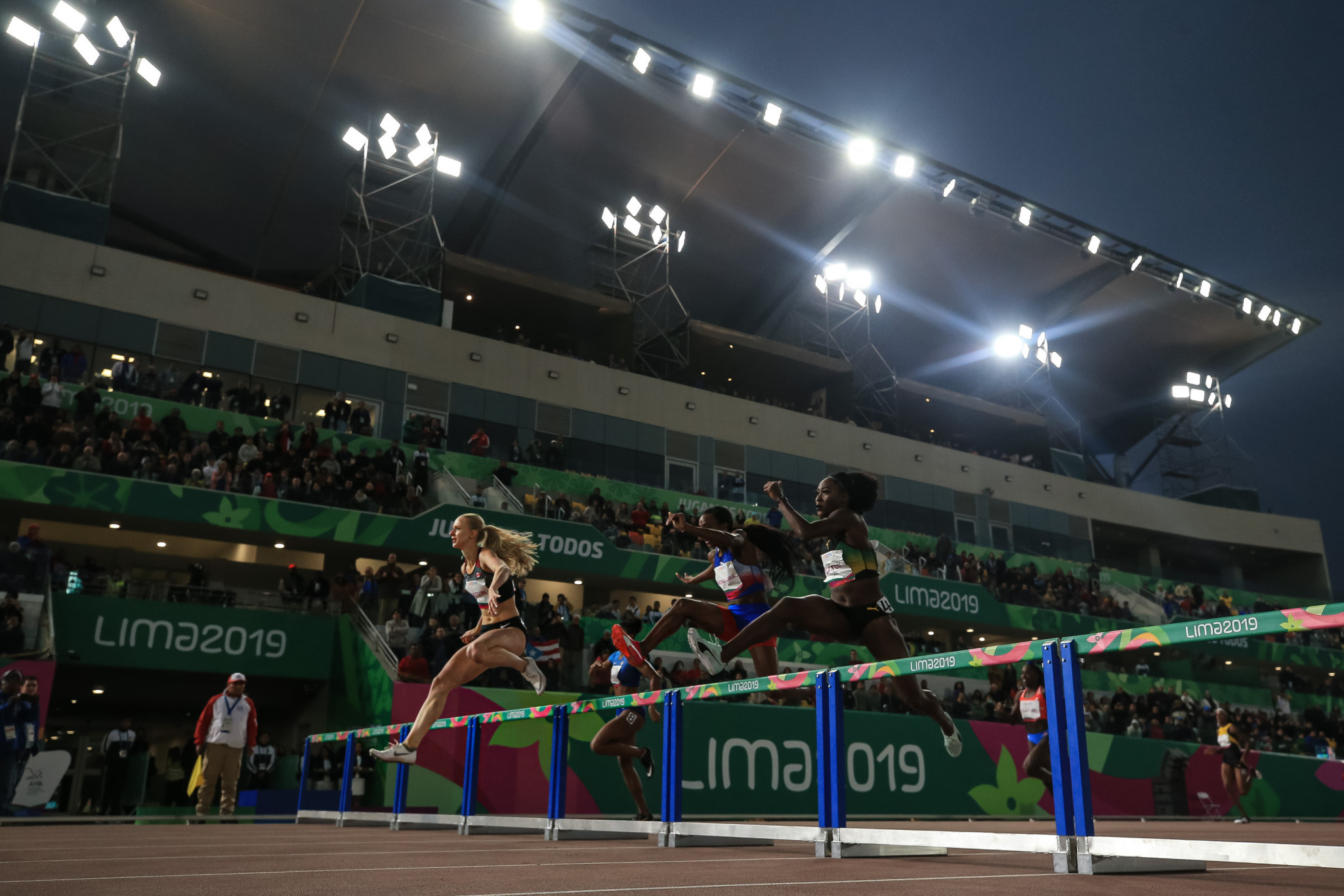 Canada's Sage Watson was disqualified then reinstated in the women's 400m hurdles final ©Getty Images