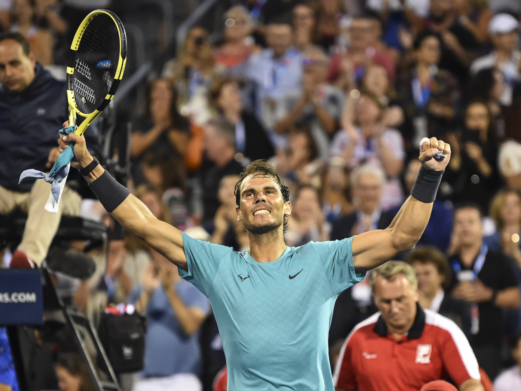 Nadal secures record-breaking win to reach Rogers Cup quarter-finals