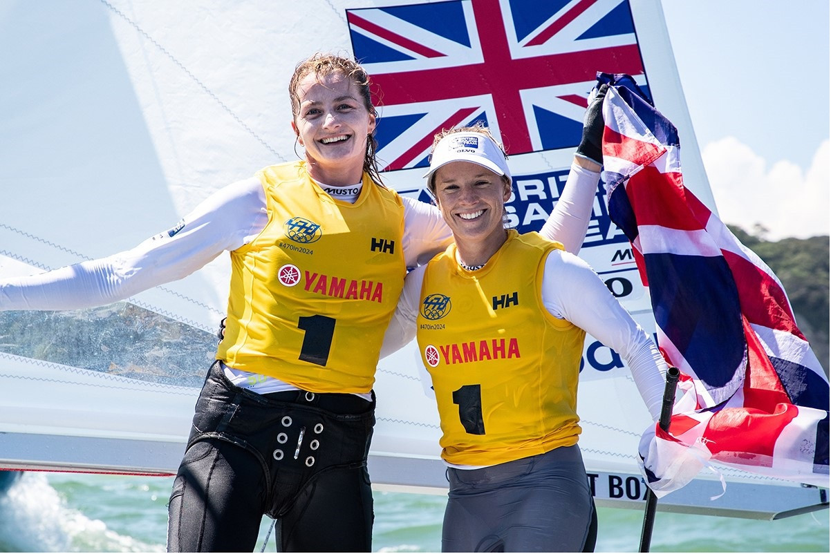 Britain's Hannah Mills and crew Eilidh McIntyre were today crowned the winners of the women's event at the Tokyo 2020 sailing venue ©British Sailing