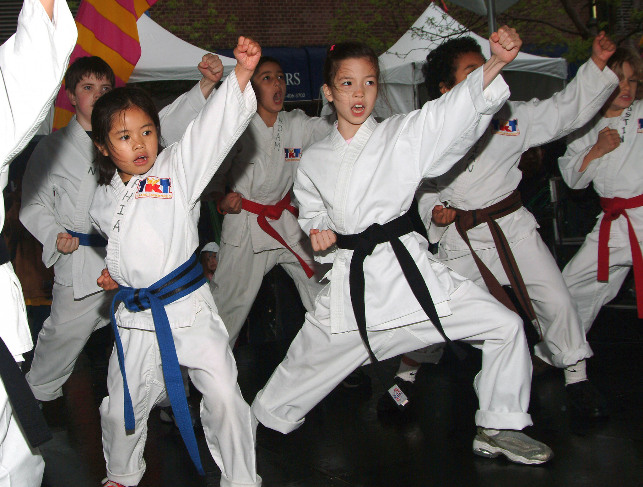 Children perform karate at the Family Festival Street Fair at the Tribeca Film Festival April 30, 2005 in New York City ©Getty Images
