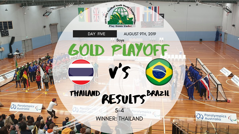 Brazil were beaten 5-4 by Thailand in the boys' final at the IBSA Goalball Youth World Championships ©2019 IBSA Goalball Youth World Championships/Facebook