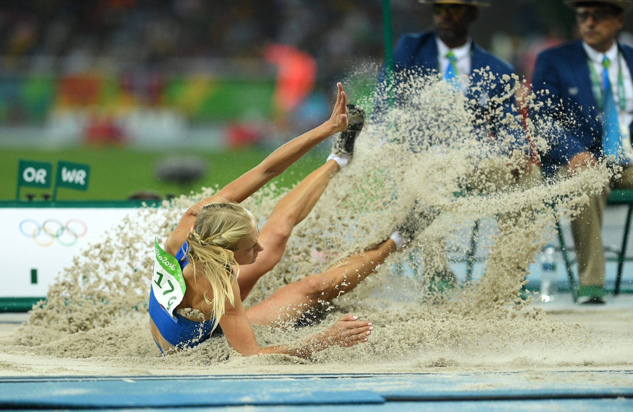 Russia's Darya Klishina competes in the Women's Long Jump Final during the athletics event at the Rio 2016 Olympic Games at the Olympic Stadium ©Getty Images